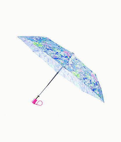 Travel Umbrella, Coastal Blue Lion Around, large 0