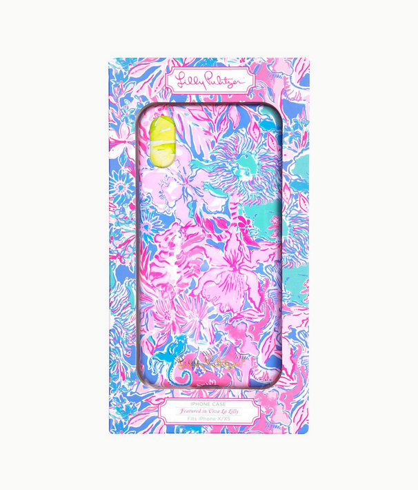 iPhone X/XS Classic Case, Blue Peri Viva La Lilly, large