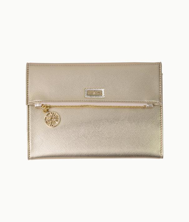 Notepad Folio, Gold Metallic, large