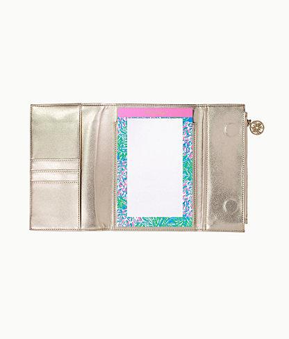 Notepad Folio, Gold Metallic, large 1