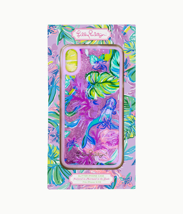 Glitter iPhone X/XS Case, Amethyst Tint Mermaid In The Shade, large