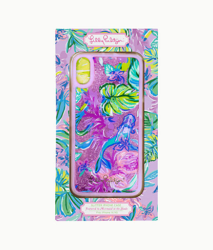 Glitter iPhone X/XS Case, Amethyst Tint Mermaid In The Shade, large 0