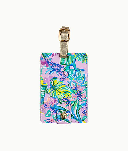 Luggage Tag, Amethyst Tint Mermaid In The Shade, large 1