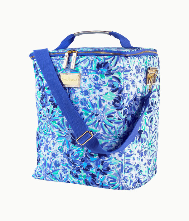 Wine Carrier, Iris Blue High Manetenance, large