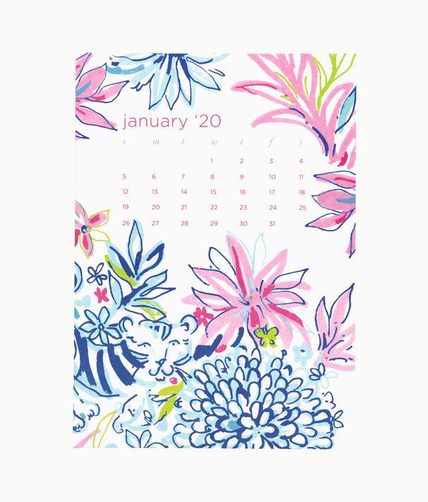 2020 Easel Desk Calendar, Coastal Blue Lion Around, large