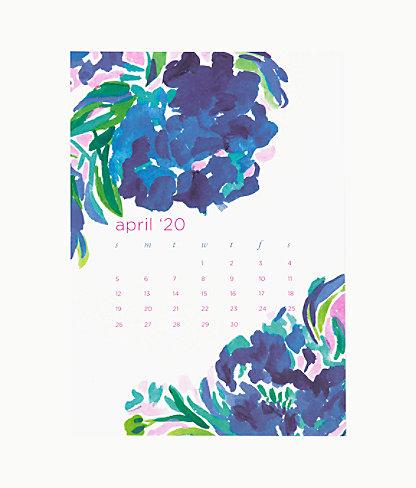 2020 Easel Desk Calendar, Coastal Blue Lion Around, large 6