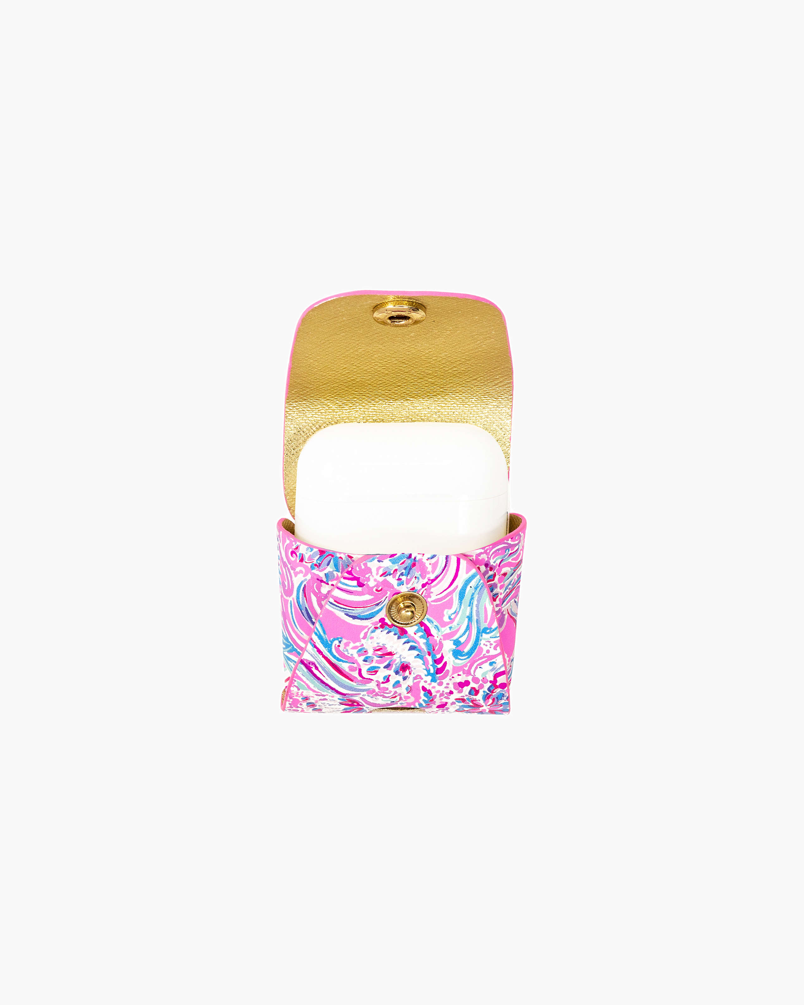 Apple Airpod Case Carrier, Prosecco Pink Dont Be Jelly, large - Lilly Pulitzer Zoomed