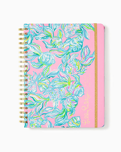 2021-2022 Jumbo Agenda - 17 Month, Pelican Pink Off The Scales, large