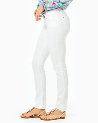 "31"" Worth Skinny Jean - Sateen, Resort White, large 2"