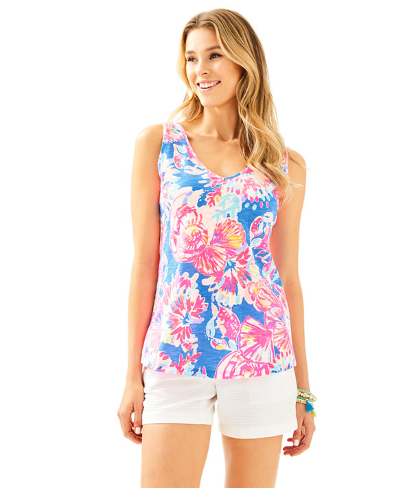 5f9b9dc709 GiGi V-Neck Tank Top | 81190 | Lilly Pulitzer