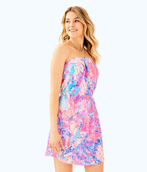 44fd296f4c82 Windsor Strapless Pull-On Dress, Light Pascha Pink Aquadesiac, large