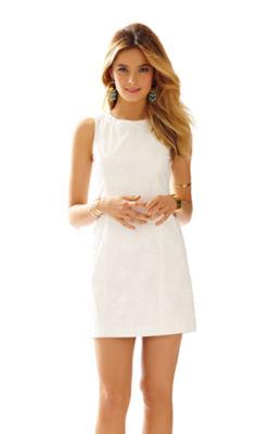 Mila Lace Detail Shift Dress, , large