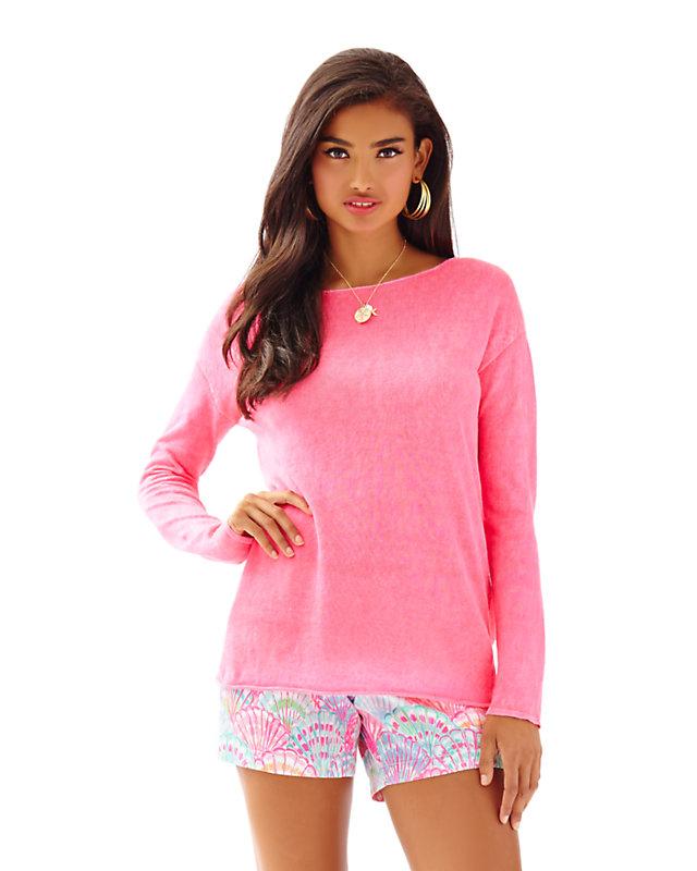 Alana Linen Boatneck Pullover Sweater