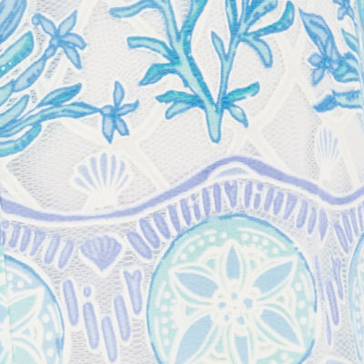 Bali Blue Sea To Sea Engineered Lace