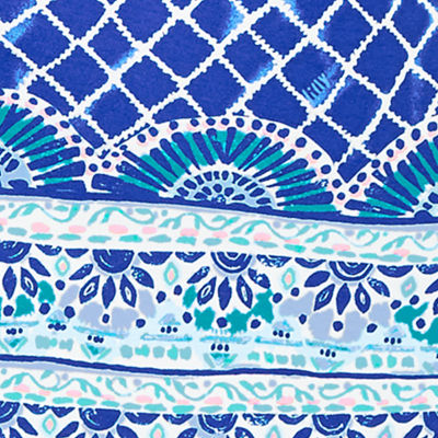 Blue Grotto Tide Up Engineered Dress