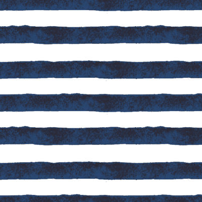 Bright Navy Positano Stripe