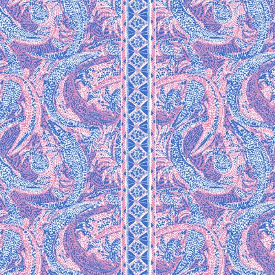 Coastal Blue Maybe Gator Engineered Knit Dress
