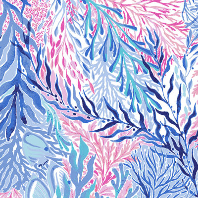 Crew Blue Tint Kaleidoscope Coral