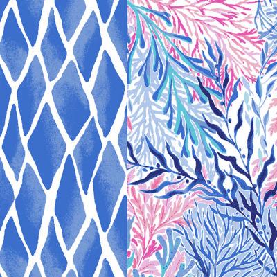 Crew Blue Tint Kaleidoscope Coral Engineered Dress