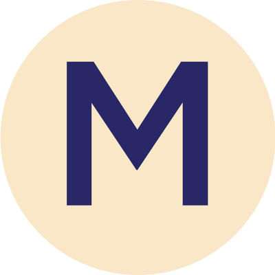 Gold Metallic M Charm