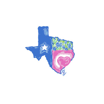 Multi Lilly Loves Texas Graphic