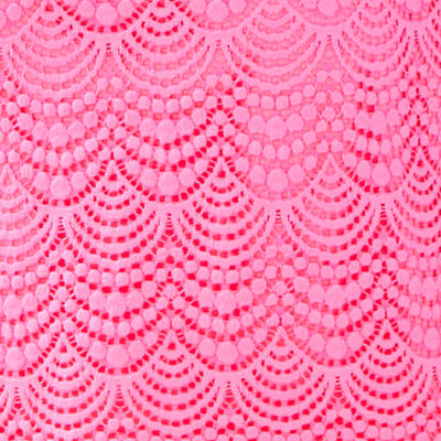 Pink Tropics Scalloped Shell Lace