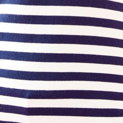 True Navy Two Color Positano Stripe
