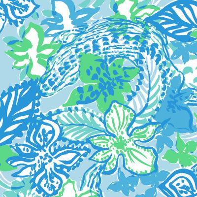 Colette Skort, Whisper Blue Boom Croc A Locca, swatch